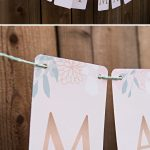"This Free Printable ""just Married"" Floral Banner Is So Cute!!   Just Married Free Printable"