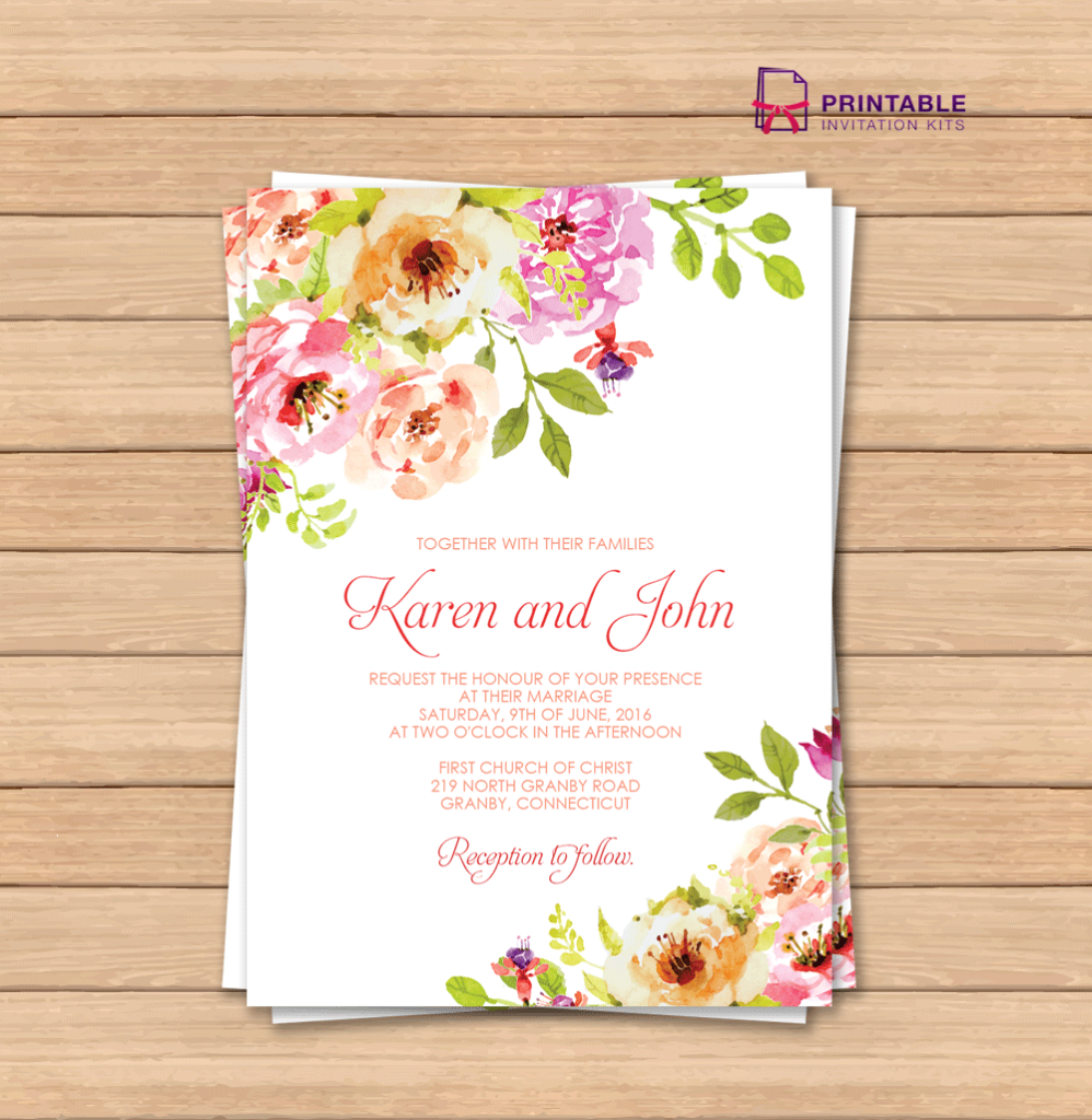 This Would Be Great With Different Colors Free Pdf Wedding - Free Printable Wedding Invitation Templates For Microsoft Word