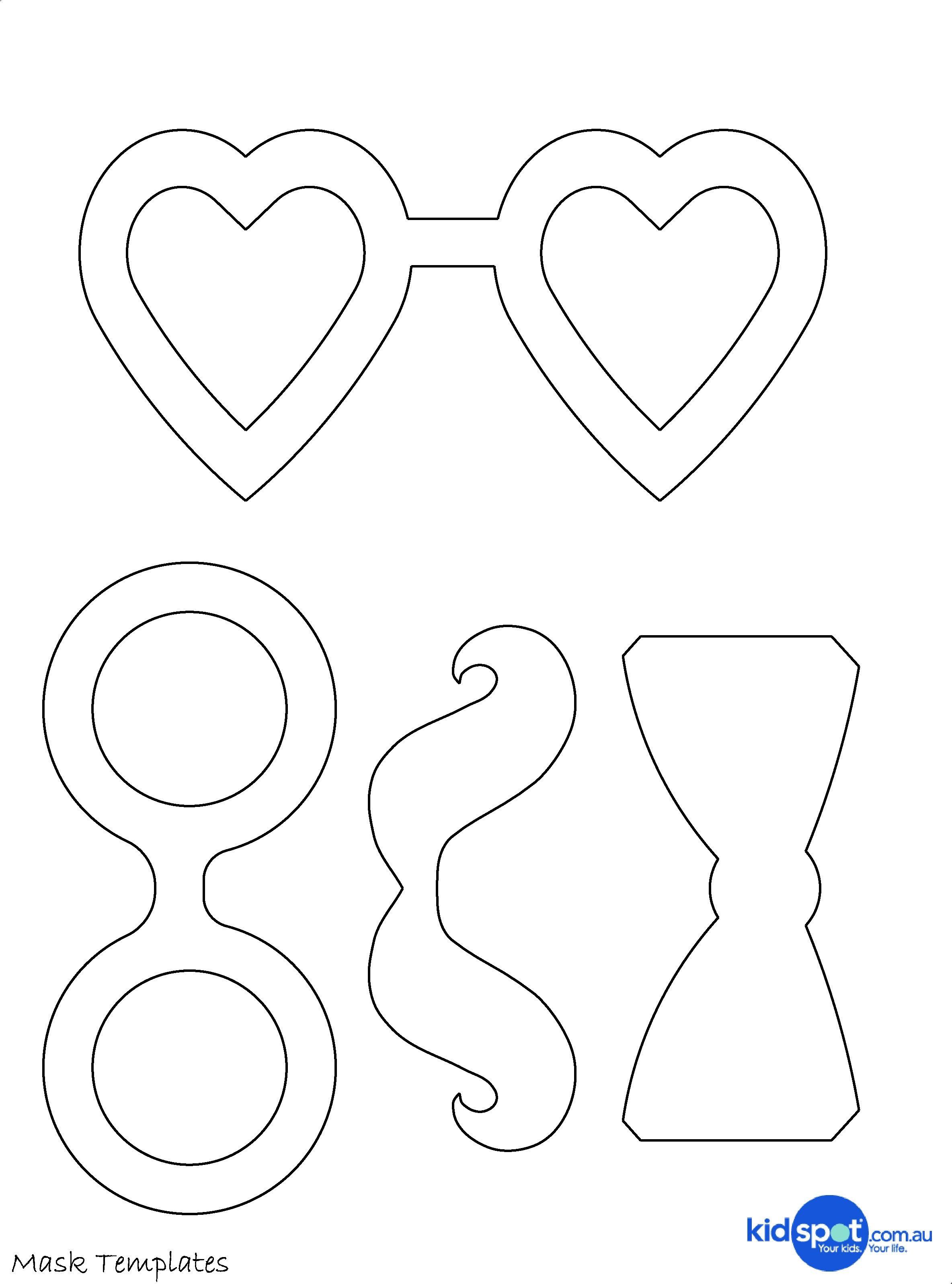 Tie Pattern Printable | Quirky Artist Loft: Free Printable Kids Mask - Free Printable Tie Template