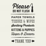 Toilet Sign   Please Do Not Flush   Little Big Crafter | Kenwood   Free Printable Do Not Flush Signs