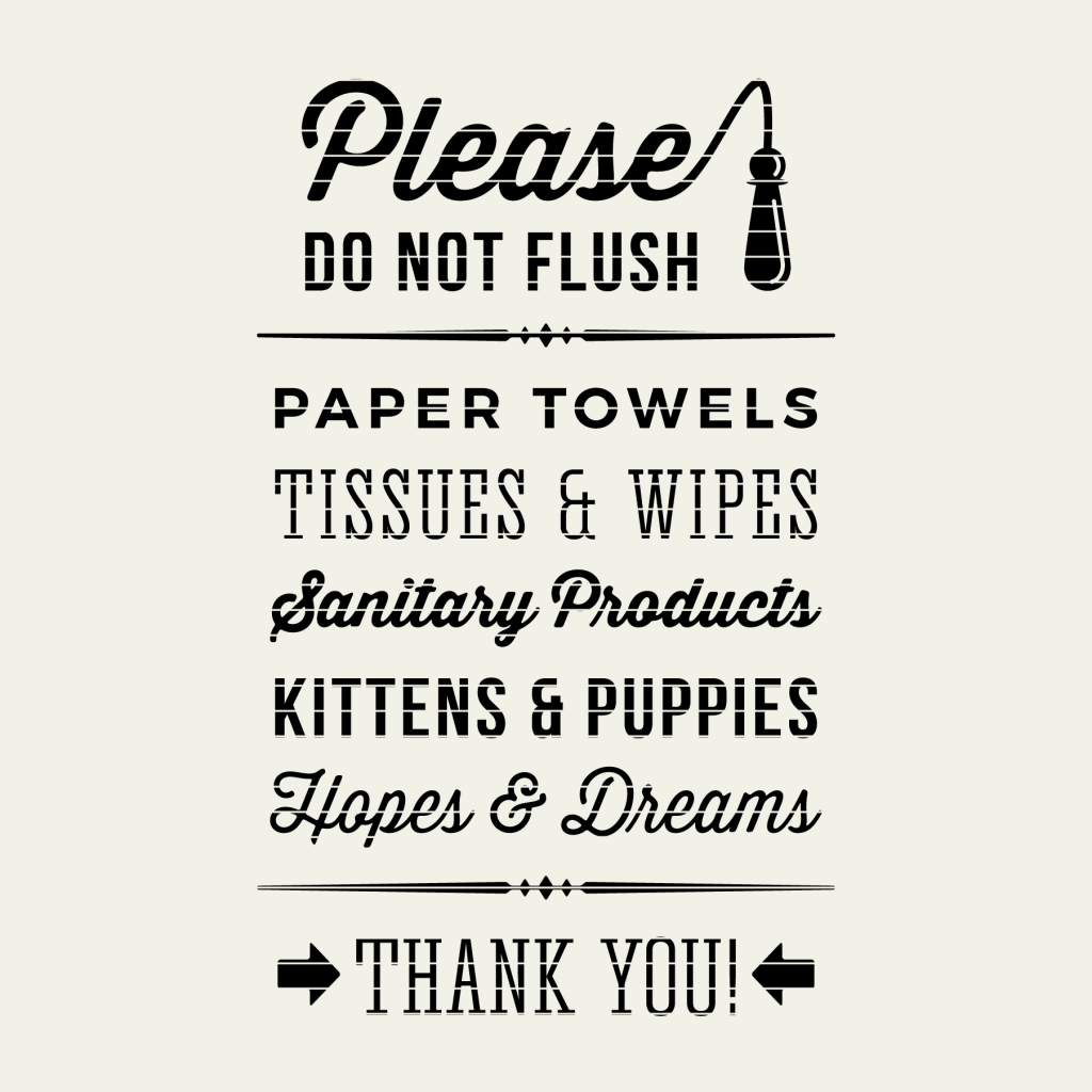 Toilet Sign - Please Do Not Flush - Little Big Crafter | Kenwood - Free Printable Do Not Flush Signs