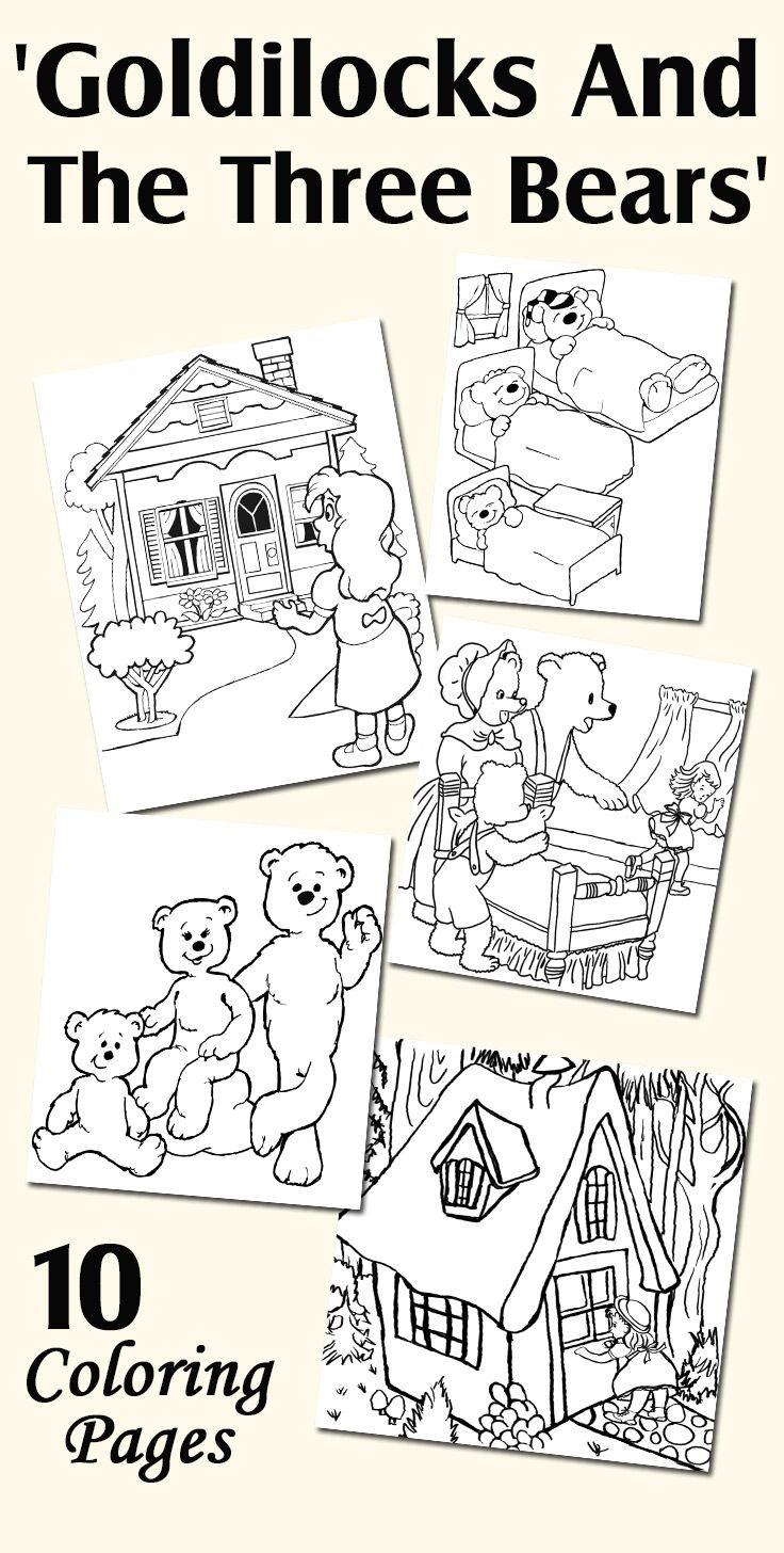 Top 10 Free Printable Goldilocks And The Three Bears Coloring Pages - Free Printable Goldilocks And The Three Bears Story