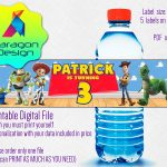 Toy Story Water Bottle Labels For Boy Girl Birthday | Etsy   Free Printable Toy Story Water Bottle Labels