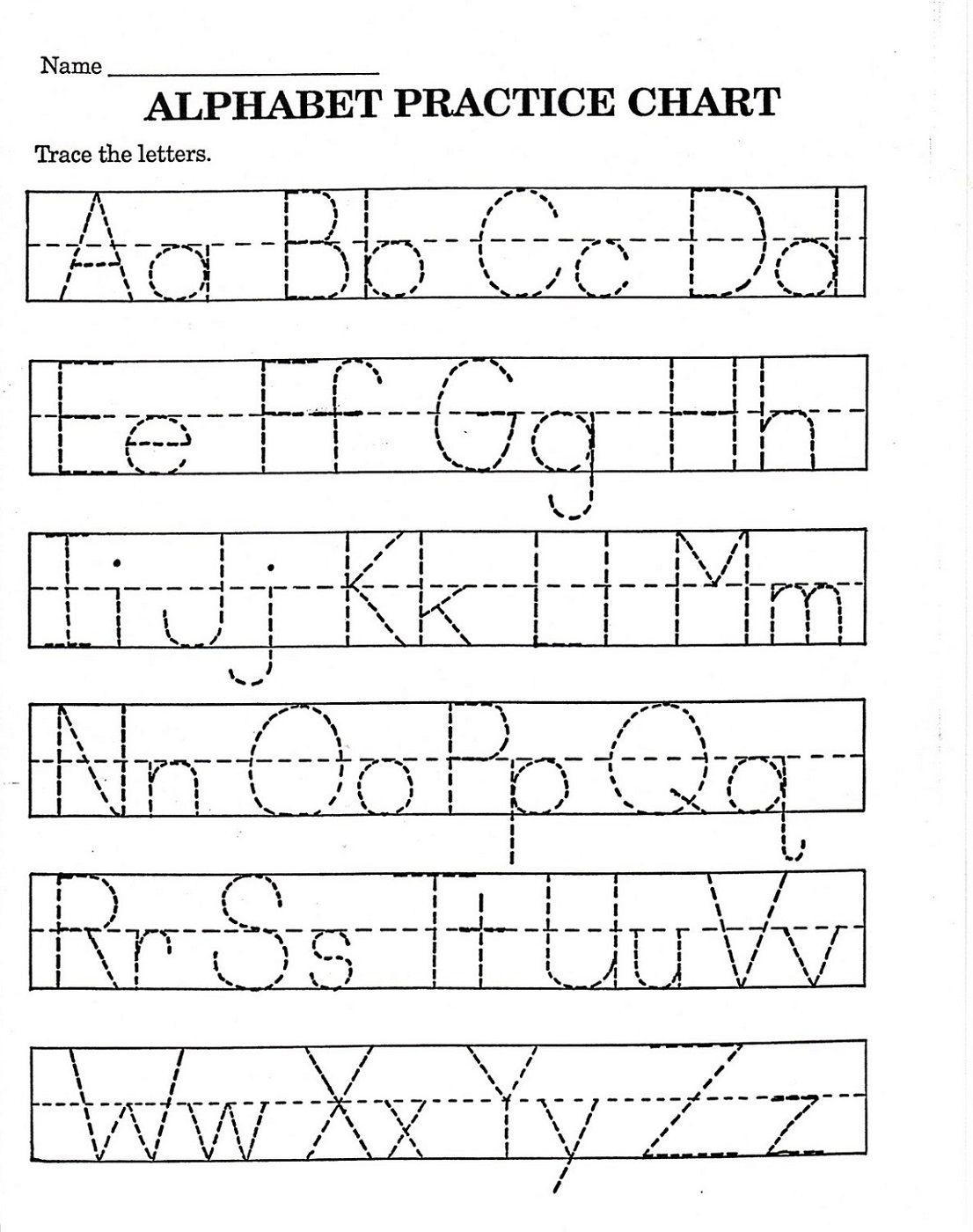 Trace Letter Worksheets Free   Reading And Phonics   Pre K Math - Free Printable Pre K Worksheets