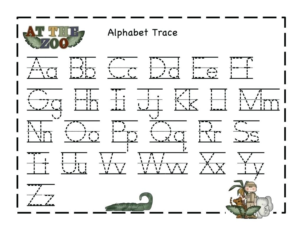 Tracer Pages Alphabet Tracer Pages A To Z Tracer Pages For Preschool - Free Printable Preschool Name Tracer Pages