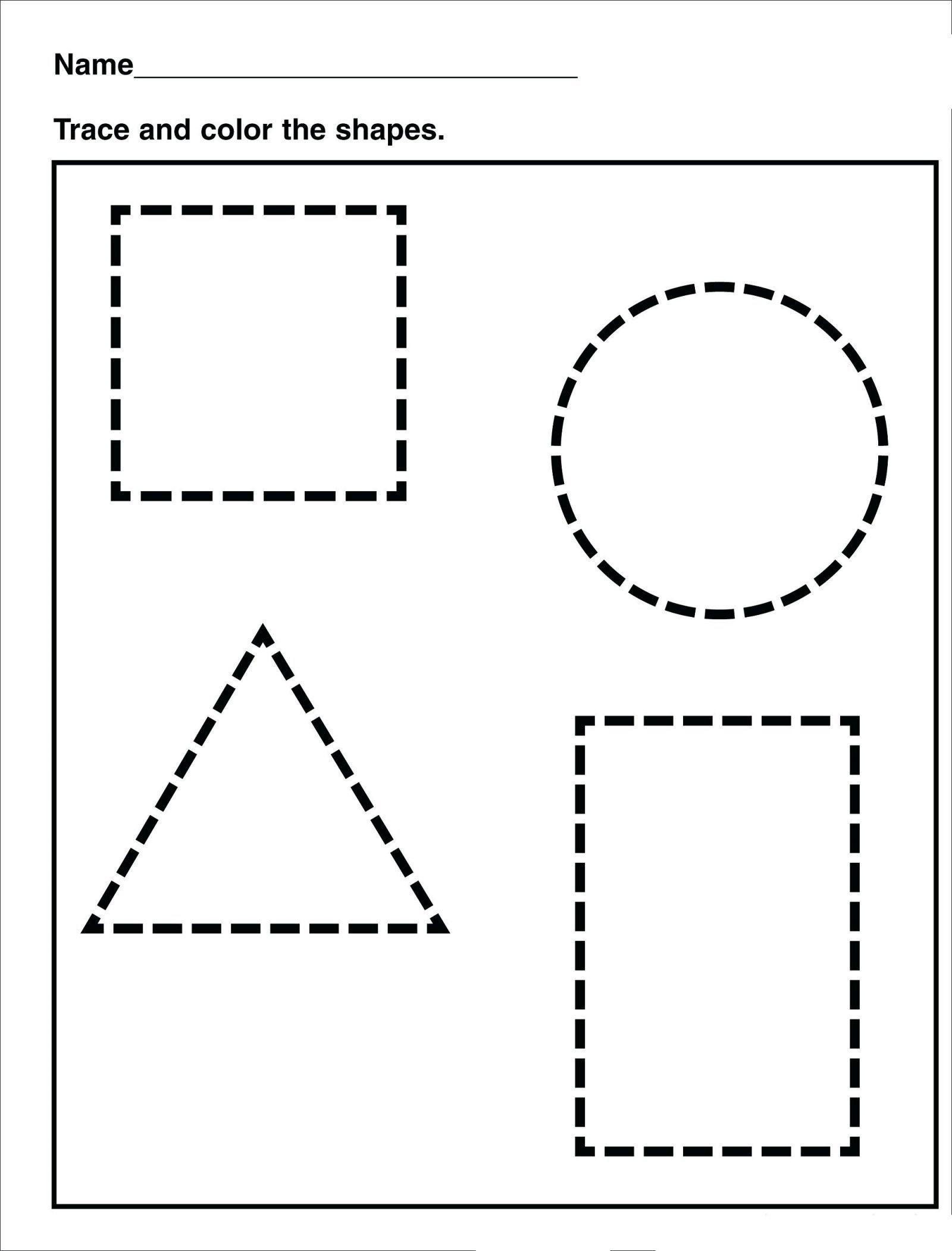 Tracing   Shape Tracing   Preschool / Free Printable Worksheets - Free Printable Activities For Preschoolers
