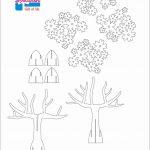 Tree 3D Pop Up Card/ Kirigami Pattern 1 | Kirigami Art | Pop Up Card   Free Printable Kirigami Pop Up Card Patterns