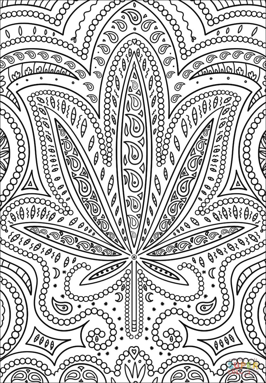 Trippy Weed Coloring Page | Free Printable Coloring Pages - Free Printable Trippy Coloring Pages