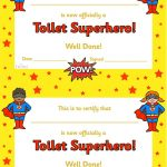 Twinkl Resources >> Toilet Superhero Certificate >> Thousands Of   Free Printable Superhero Certificates