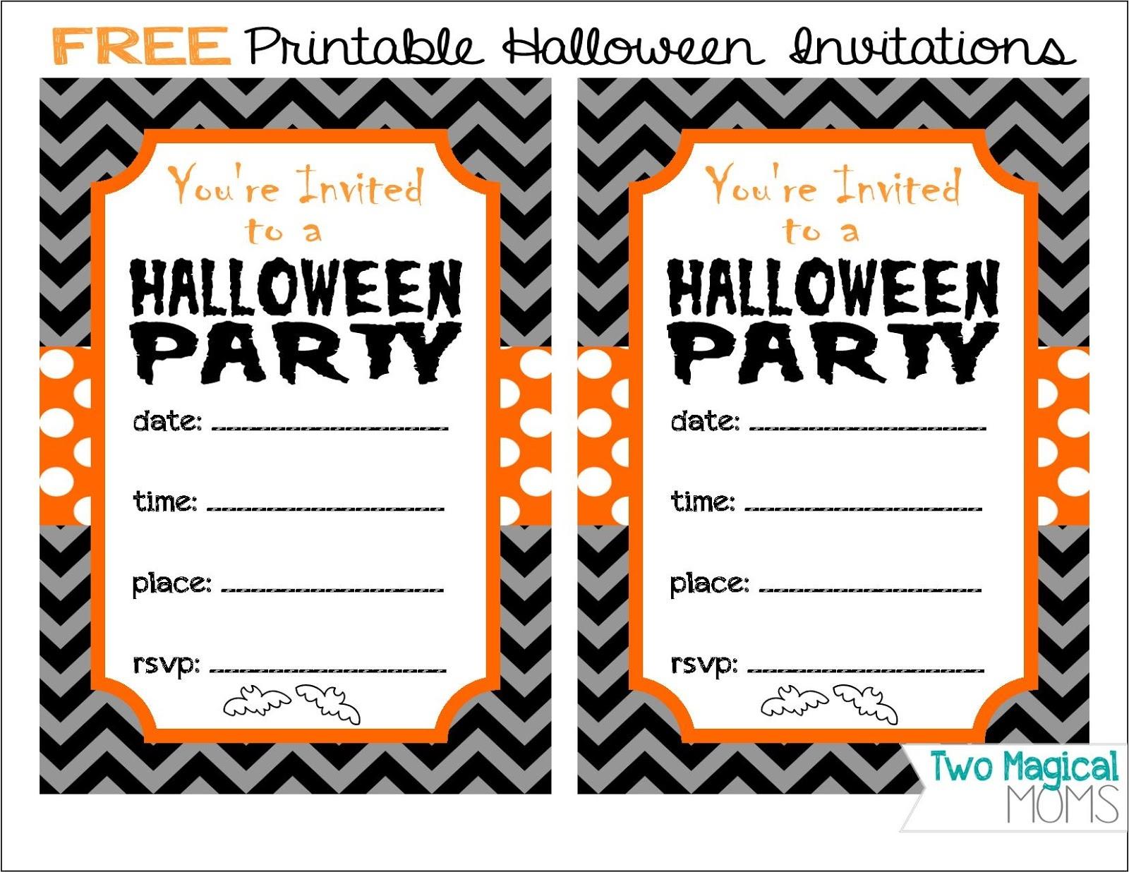 Two Magical Moms: Free Printable Halloween Invitations - Free Printable Halloween Invitations