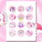 Unicorn Digital Collage Sheet, Unicorns, Unicorn Printable   Free Printable Cabochon Templates
