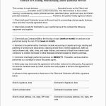 Unique Free Cleaning Service Contract Template | Best Of Template   Free Printable Service Contract Forms