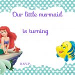 Updated! Free Printable Ariel The Little Mermaid Invitation Template   Free Printable Little Mermaid Birthday Banner