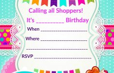 Updated – Free Printable Shopkins Birthday Invitation Template – Free Printable Birthday Invitation Templates