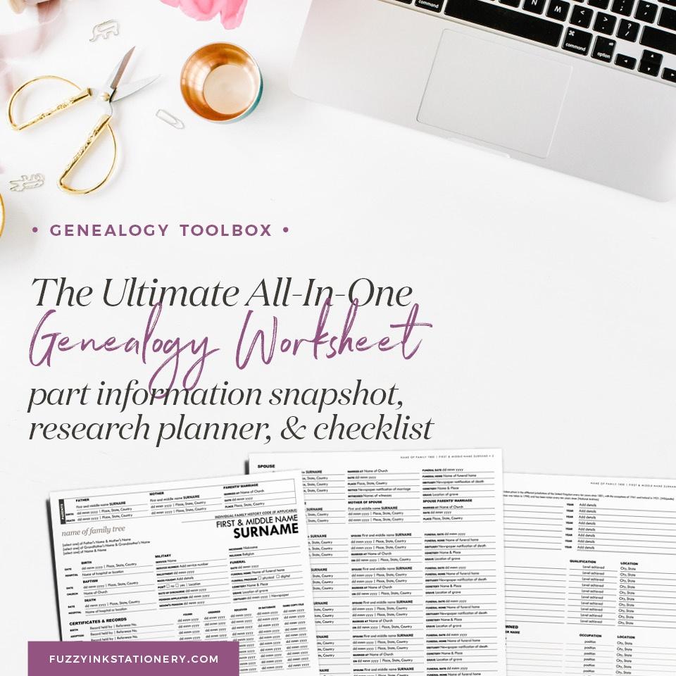 Updated: The Ultimate All-In-One Genealogy Worksheet - Free Printable Genealogy Worksheets