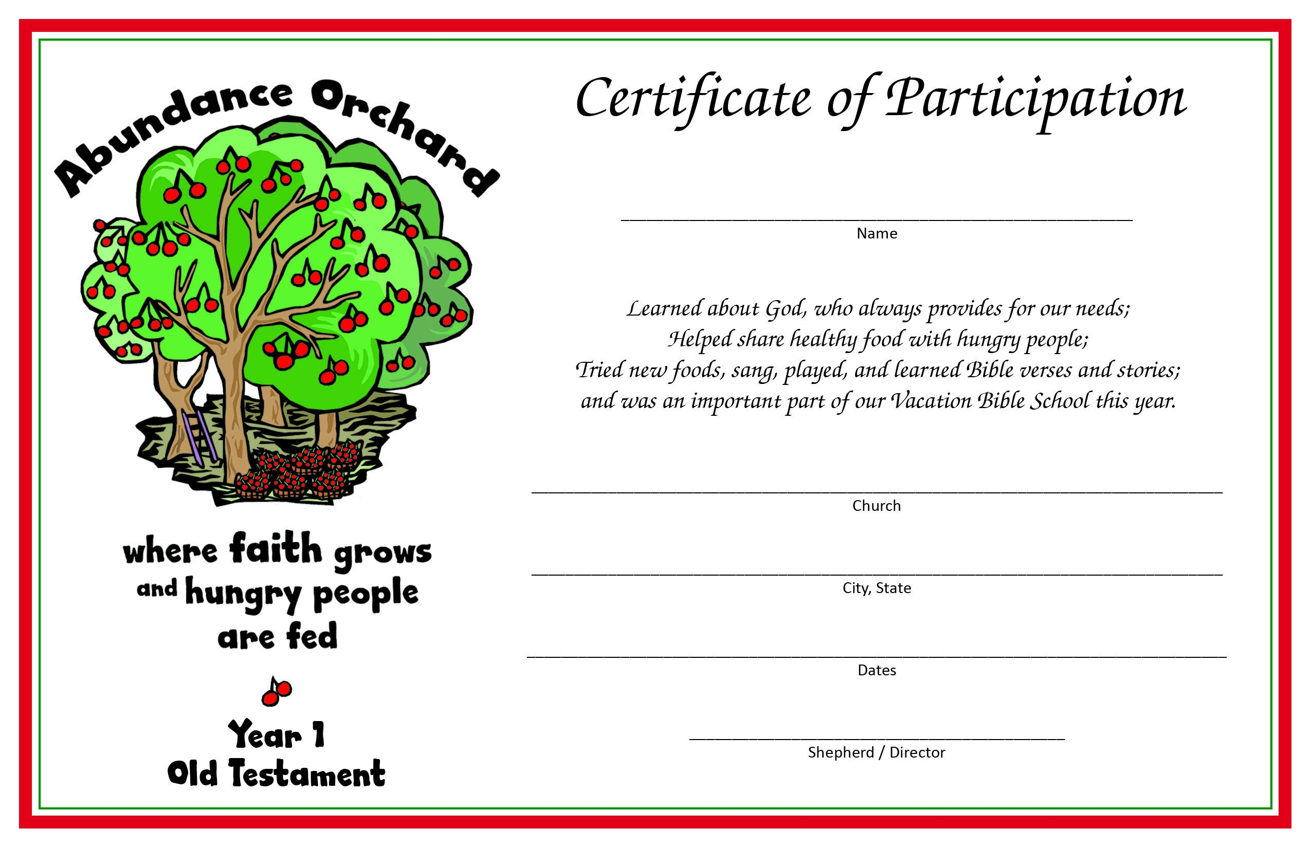 Vacation Bible School Programs ~ The Society Of St. Andrew - Free Printable Vacation Bible School Materials