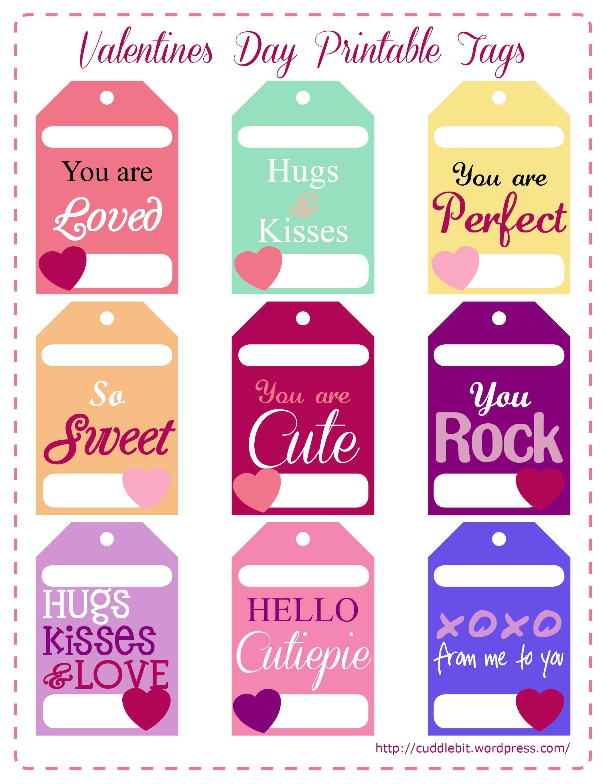Valentine's Day Love Packs | So Stinking Cute!! | Valentine - Free Printable Valentines Day Tags