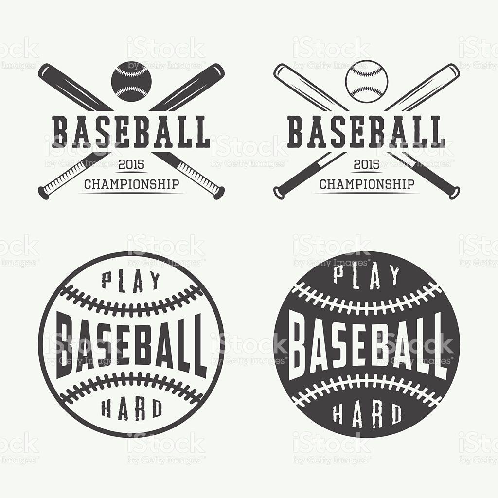 Vintage Baseball Logos, Emblems, Badges And Design Elements. Vector - Free Printable Baseball Logos