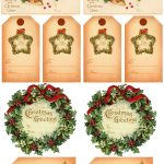 Vintage Christmas Gift Tags | Vintage Printables | Christmas Gift   Free Printable Vintage Christmas Tags For Gifts