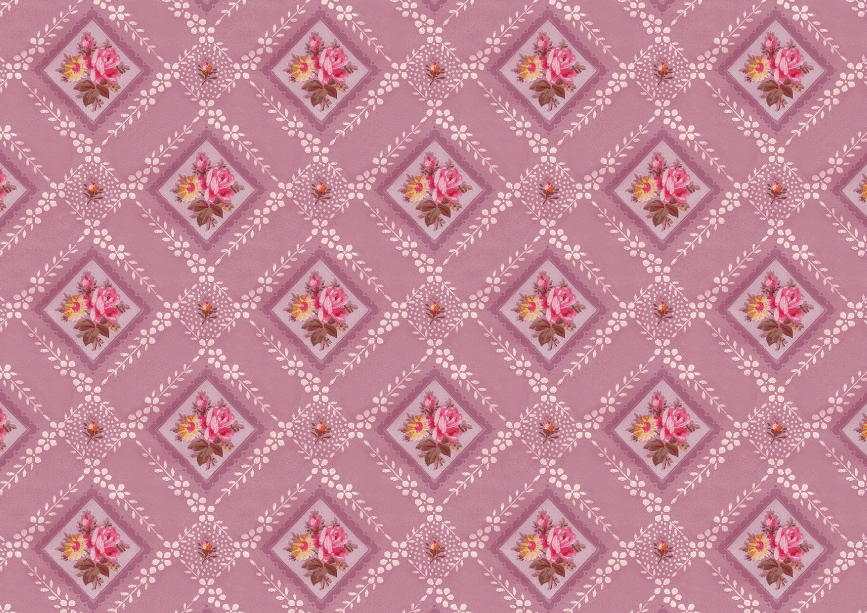 Vintage Floral Wallpaper Pattern And Printable Paper – Wings Of Whimsy - Free Printable Wallpaper Patterns