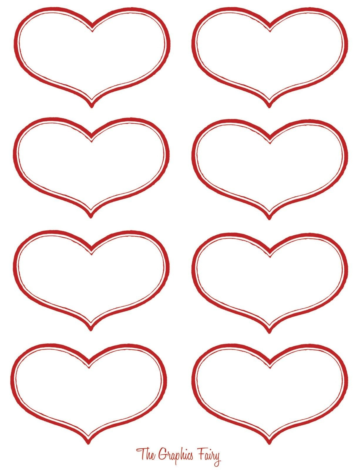 Vintage Valentine Printable - Antique Heart Labels | Diy Ideas - Free Printable Hearts