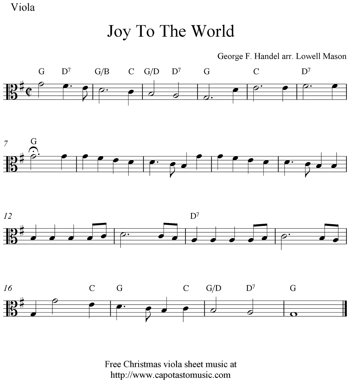 Viola Sheet Music For Beginners Christmas Music | Free Easy - Viola Sheet Music Free Printable