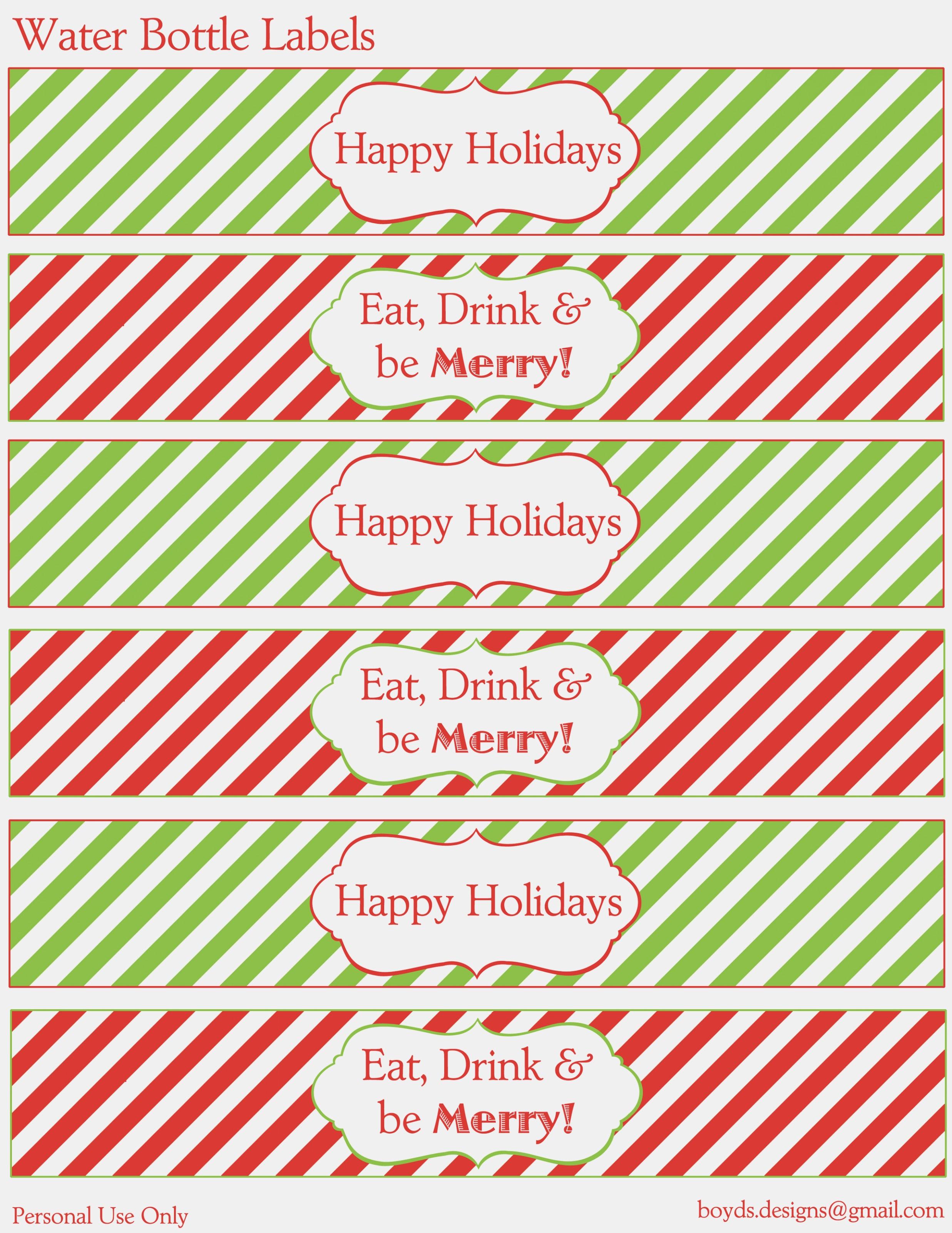 Water Bottle Printables For Christmas – Christmas Printables – Print - Christmas Water Bottle Labels Free Printable
