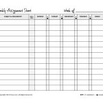 Weekly Assignment Planner   Kaza.psstech.co   Free Printable Homework Assignment Sheets