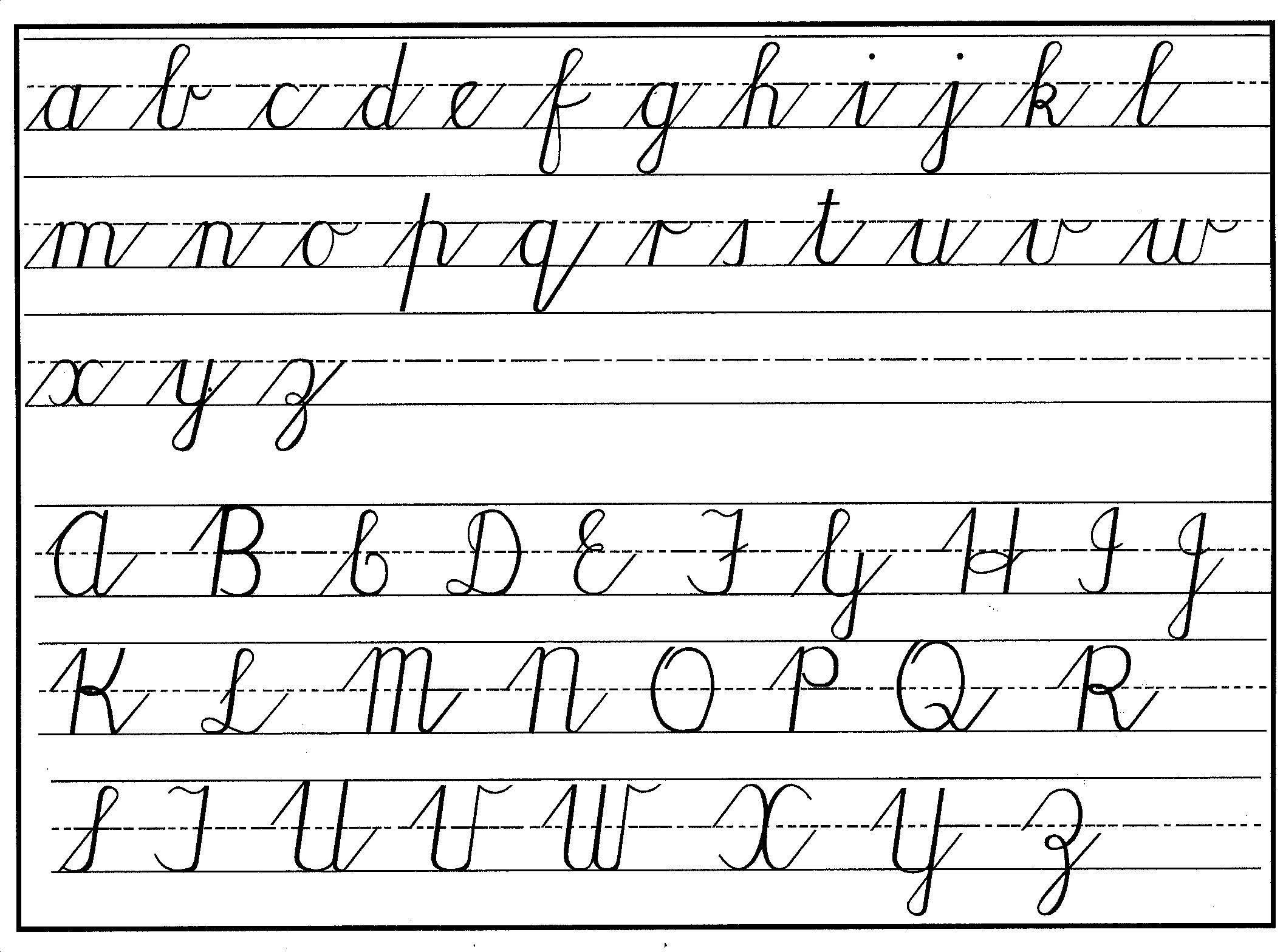 What Does A Cursive Z Look Like - Free Printable Cursive Alphabet