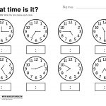 What Time Is It Printable Worksheet | Kolbie | Kindergarten   Free Printable Time Worksheets For Kindergarten
