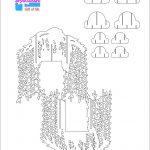 Willow Tree Pop Up Card/kirigami Pattern 2 | Pop Up Cards | Pop Up   Free Printable Kirigami Pop Up Card Patterns