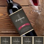 Wine Bottle Anniversary Labels Free Printable | Bloggers' Best Diy   Free Printable Wine Labels For Birthday