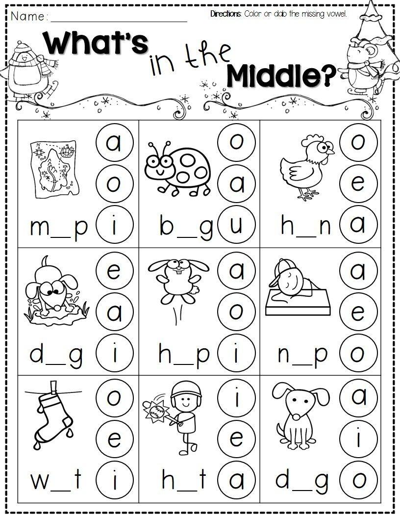 Winter Activities For Kindergarten Free | Kindergarten Literacy - Phonics Pictures Printable Free