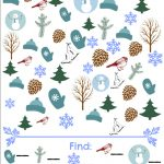 Winter I Spy Game   Free Printable Seek And Find