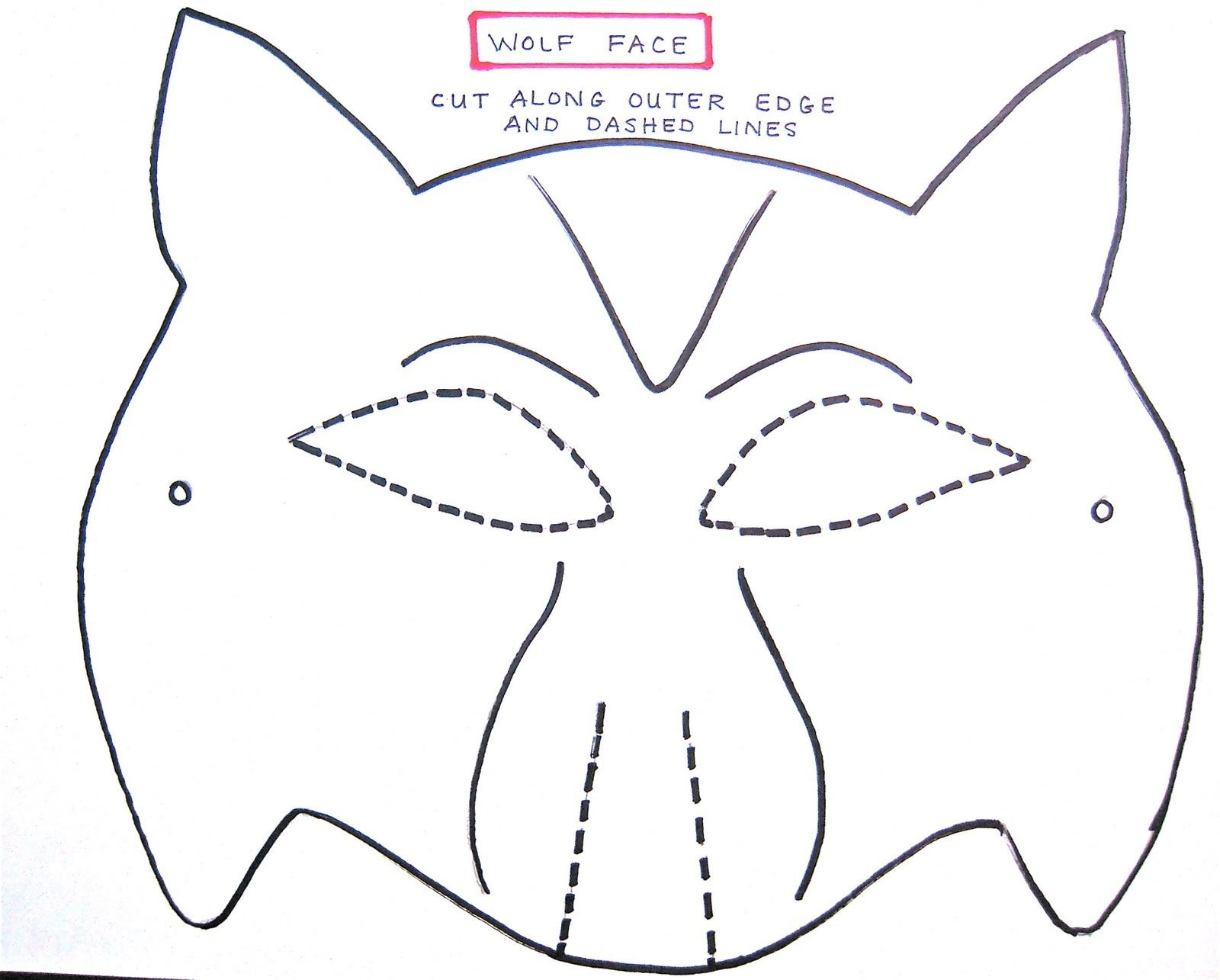Wolf Mask Template For Preschoolers | Making The Wolf Mask | Kids - Animal Face Masks Printable Free