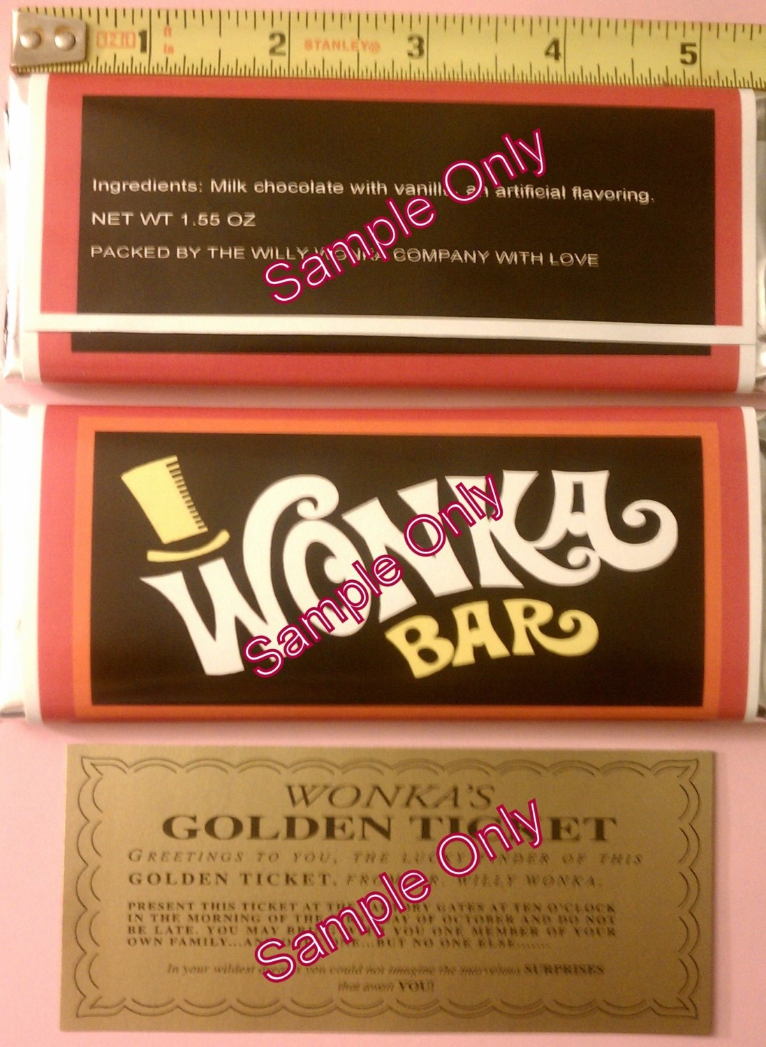Wonka Bar Wrapper Template. Bar Wrapper Template Wonka Bar Wrappers - Free Printable Wonka Bar Wrapper Template