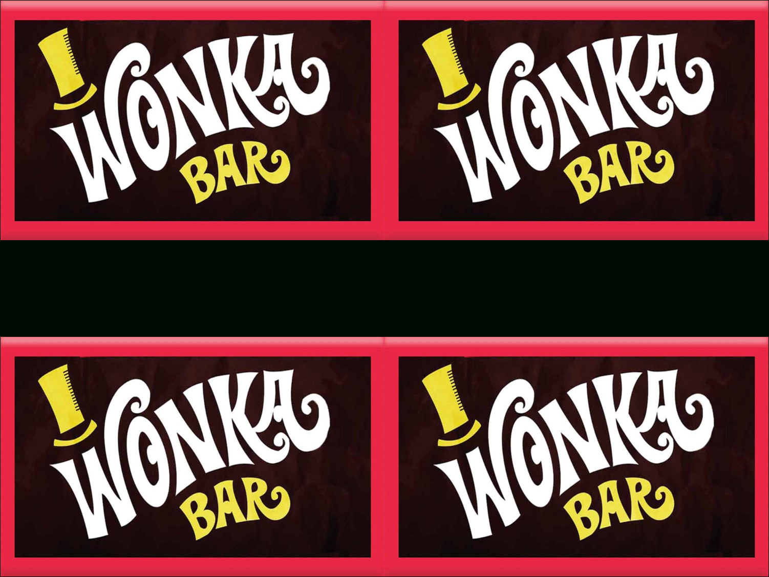 Wonka Bar Wrapper Template. On Pinterest Chocolate Factory Willy - Free Printable Wonka Bar Wrapper Template