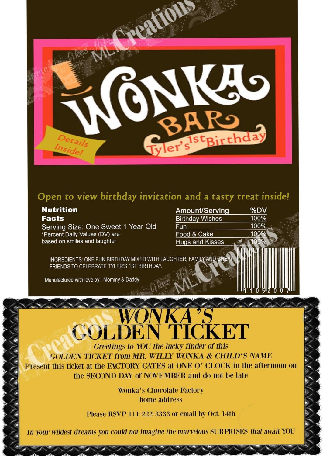 Wonka Bar Wrapper Template. On Pinterest Chocolate Factory Willy - Wonka Bar Wrapper Printable Free