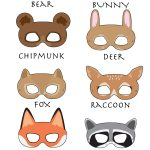Woodland Forest Animals Printable Masks, Woodland Animal Mask, Bear   Free Printable Chipmunk Mask