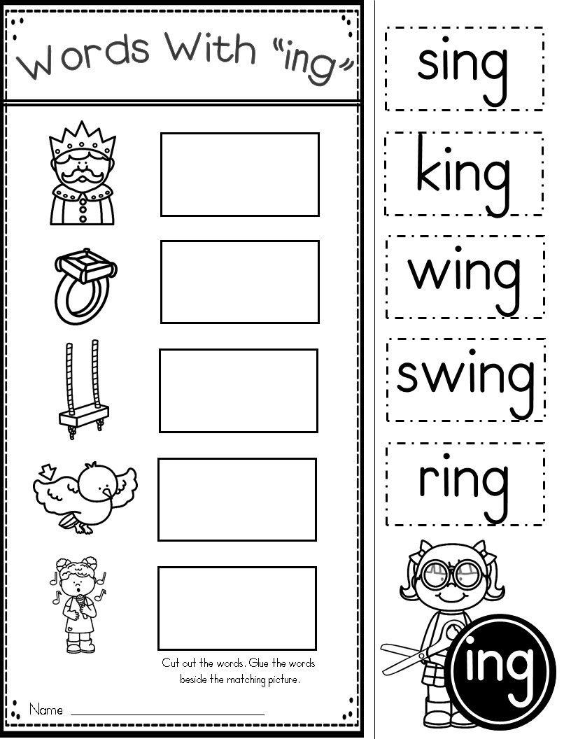Word Family Ing Phonics Practice Printables | Kindergarten Tales - Free Phonics Readers Printable