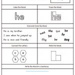 Words Worksheets Sight Words Worksheet For Kindergarten Pdf Sight   Free Printable Sight Word Worksheets