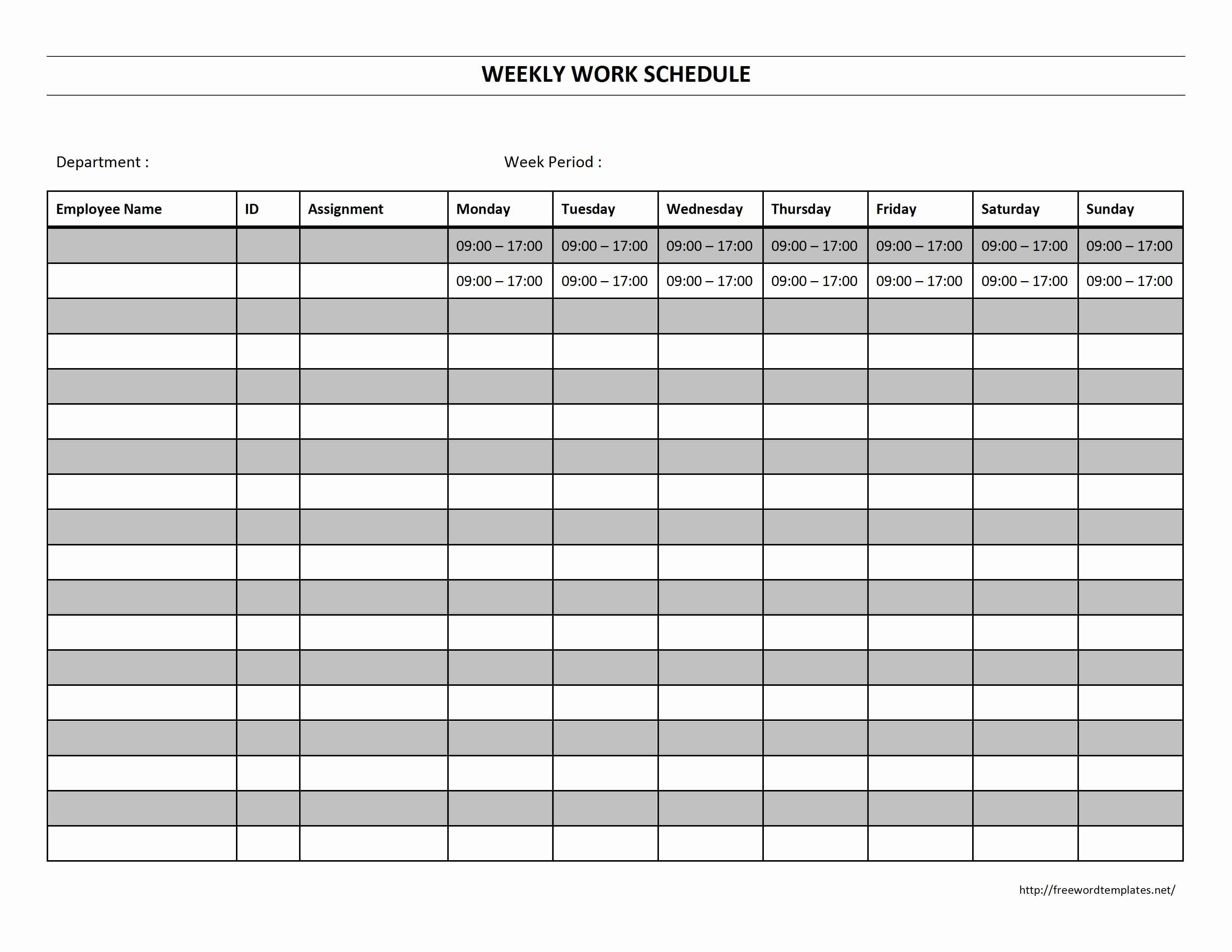 Work Schedule Maker Template Plan Tools4Dev | Smorad - Free Printable Work Schedule Maker