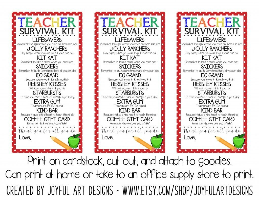 Workin It Wednesdays: Organized Back To School + Free Printable - Teacher Survival Kit Free Printable