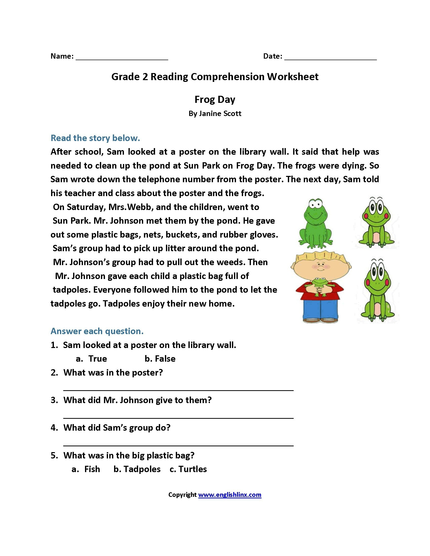 Worksheet : Free Printable Short Stories With Comprehension - Free Printable Short Stories For 4Th Graders