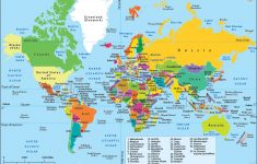 World Map, A Map Of The World With Country Name Labeled – Free Printable World Map With Countries Labeled