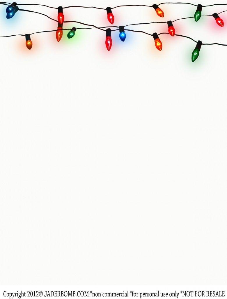 Write} Christmas Lights Printable- Free Printable- Stationery Www - Free Printable Christmas Backgrounds