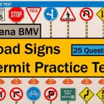 Written Test For Driving: Indiana Bmv Road Signs Permit Practice   Free Printable Testing Signs