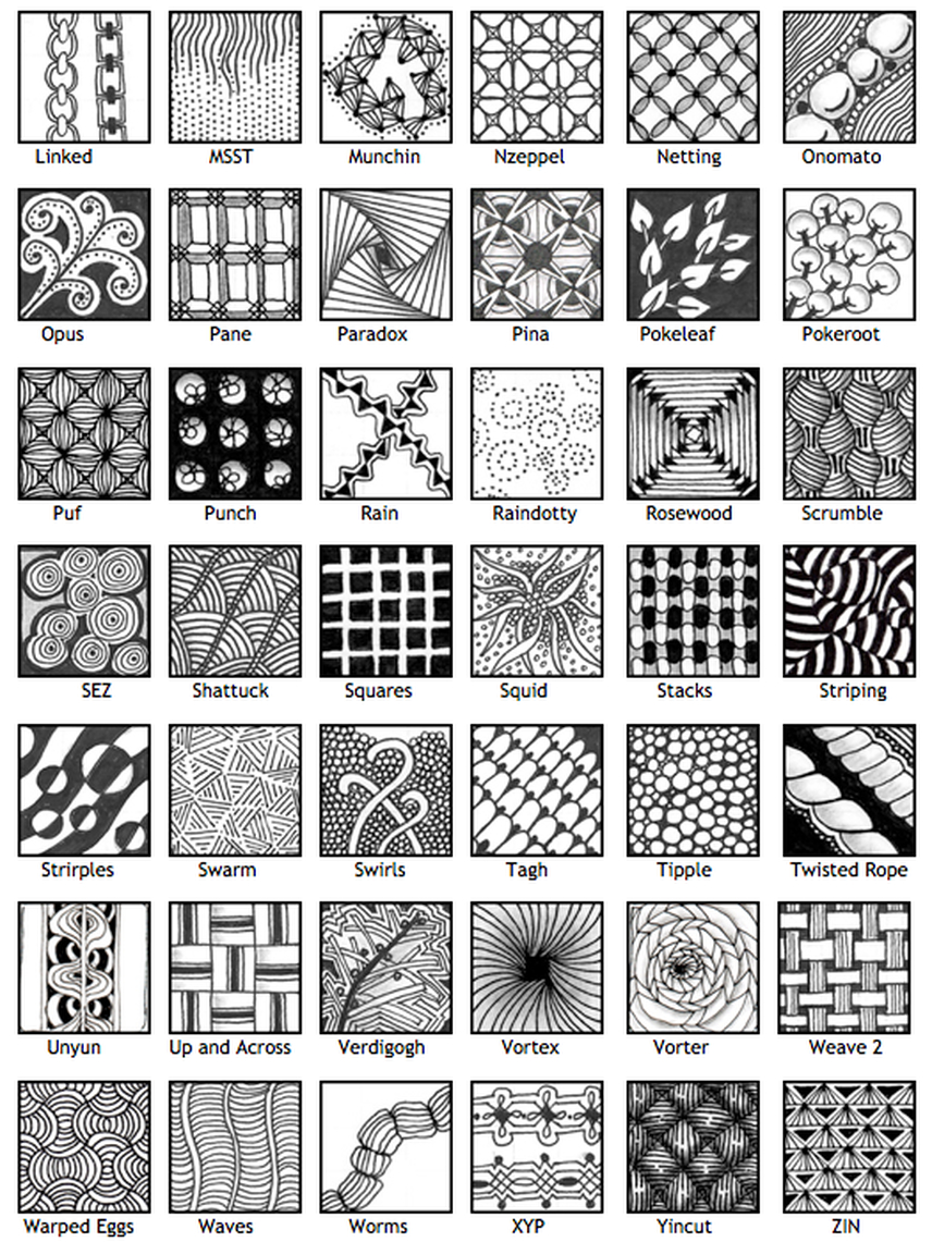 Zentangle Patterns - Google Search | Zentangle Ideas | Easy - Free Printable Zentangle Templates