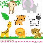 Zoo Animals Clipart   Free Large Images | First Birtday In 2019   Free Printable Baby Jungle Animal Clipart