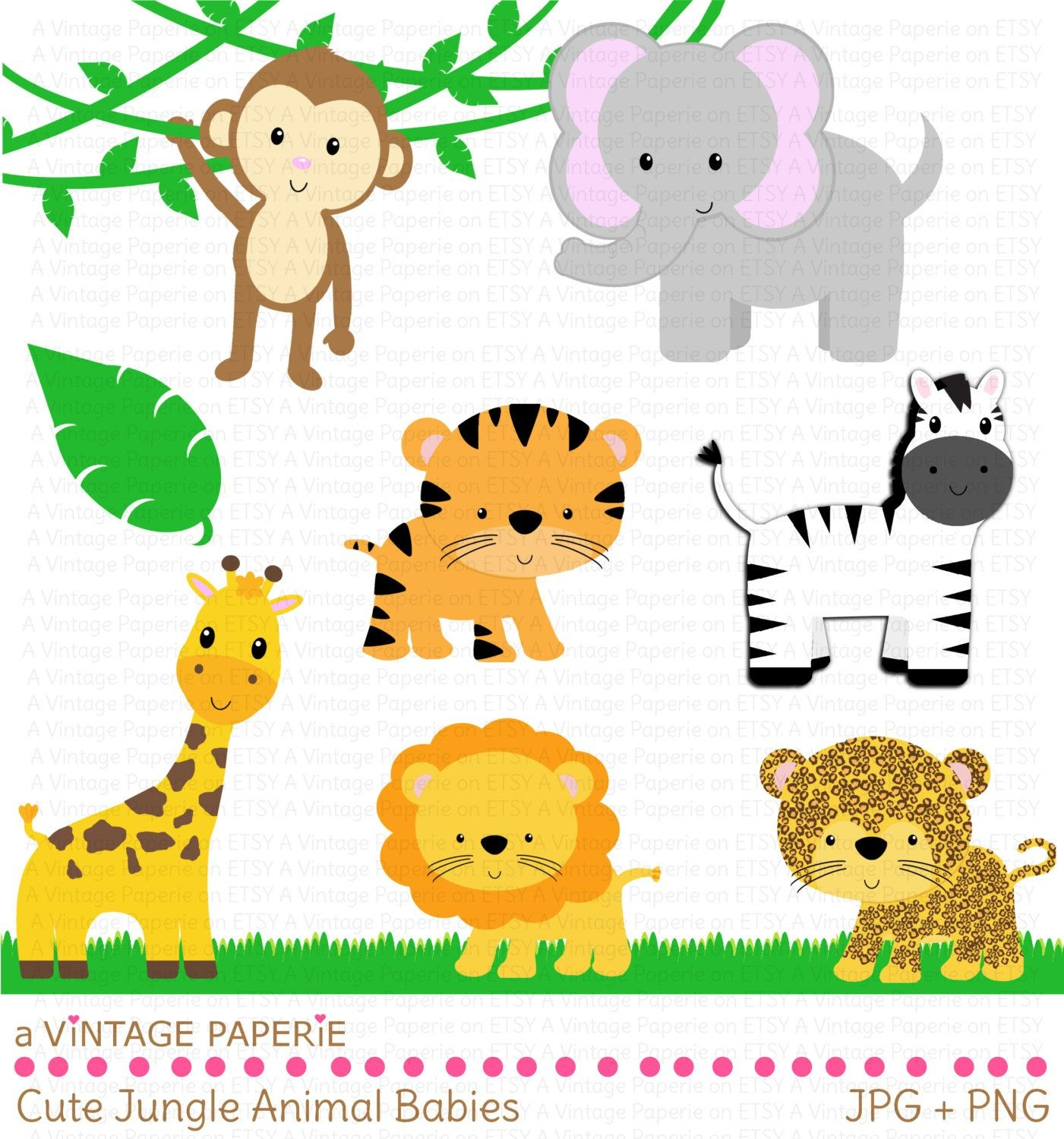 Zoo Animals Clipart - Free Large Images | First Birtday In 2019 - Free Printable Baby Jungle Animal Clipart